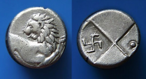 Ancient-greek-coin-hemidrachm-swastika