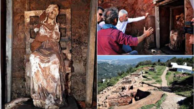 Βρέθηκε ολόκληρο άγαλμα της Θεάς Κυβέλης στην Κερασούντα