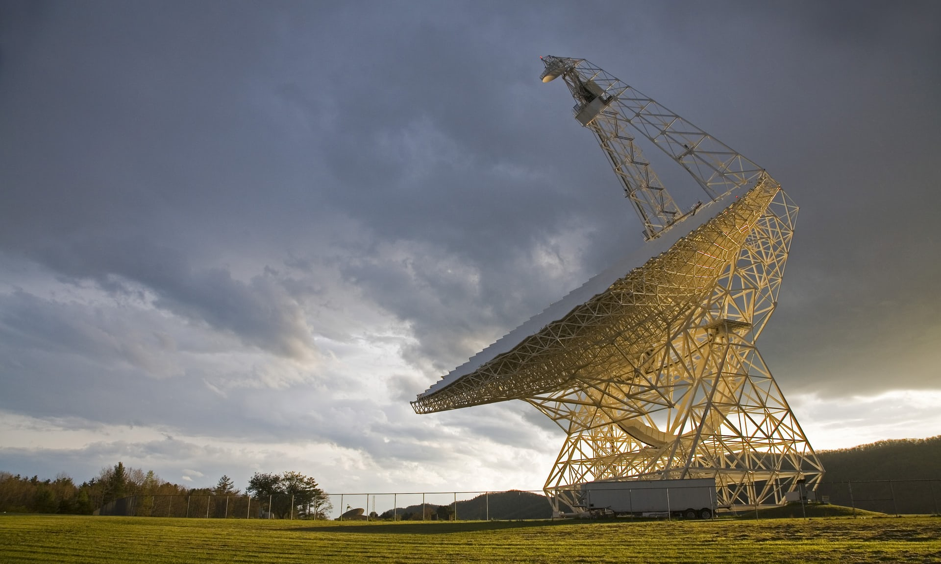 Searching the deep space: The Robert C Byrd Green Bank telescope at the National Radio Astronomy Observatory, part of the Listening Project, in Green Bank, West Virginia, US