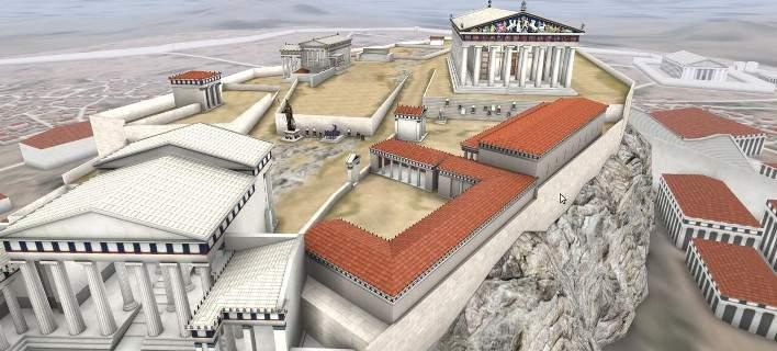Νομιζεις οτι από κάπου θα πεταχτεί ο Σωκράτης φιλοσοφώντας για κάποιο θέμα της εποχής. Απλά, μπάινεις στη «ΘΟΛΟ» και ταξιδεύεις στην Αθήνα του 5ου αιώνα π.Χ. Μπροστά στα μάτια μας ανασυντίθενται με κάθε λεπτομέρεια όλα τα κτήρια που βρίσκονταν στον «Ιερό Βράχο», στην πραγματική τους κλίμακα και τις διαστάσεις. Πρόκειται για τη νέα διαδραστική παραγωγή εικονικής πραγματικότητας θα προβάλλεται από τις 24 Μαρτίου στη «ΘΟΛΟ» του Κέντρου Πολιτισμού «Ελληνικός Κόσμος».
