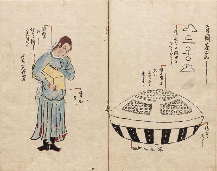Από το Hirokata zuihitsu (Δοκίμια από τη Hirokata, 1825) από τον shogunate υπηρέτη και καλλιγράφο Yashiro Hirokata, που ήταν επίσης μέλος του κύκλου Toenkai. (Ευγενική προσφορά των Εθνικών Αρχείων της Ιαπωνίας)